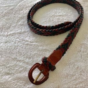 """Accessories - Multicolored leather braided belt 38"""""""